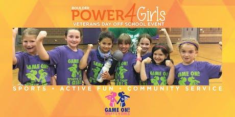 Power4Girls Veterans Day Off Event 2019 - Boulder tickets