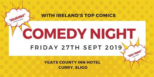 Comedy Night Yeats County Inn Hotel, Curry, Sligo