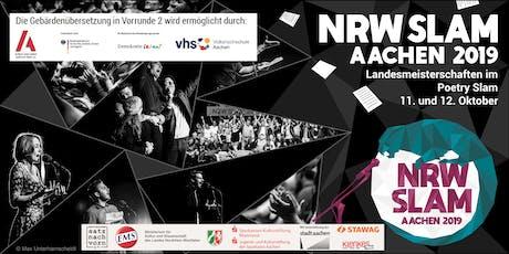NRW Slam 2019 - Vorrunde 2 (mit Gebärdenübersetzung) Tickets