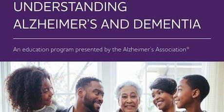 Understanding Alzheimer's and Dementia: Presented by The Alzheimer's Association tickets