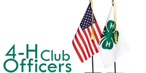 Polk County 4-H Club Officer Training