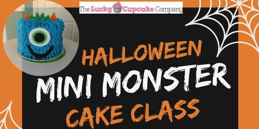 Halloween Mini Monster Cake Class