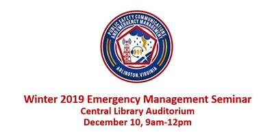 Arlington DPSCEM Winter Emergency Management Seminar
