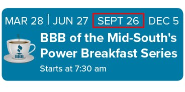 BBB of the Mid-South Power Breakfast Series September 26 2019
