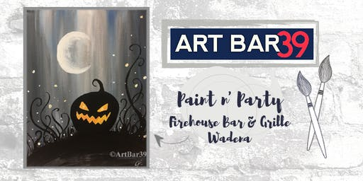 Wadena Public Event | Art Bar 39 Paint & Sip | Spooky Pumpkin