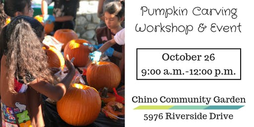 Pumpkin Carving Workshop & Event