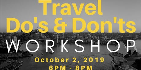 Travel Do's & Don'ts Workshop tickets