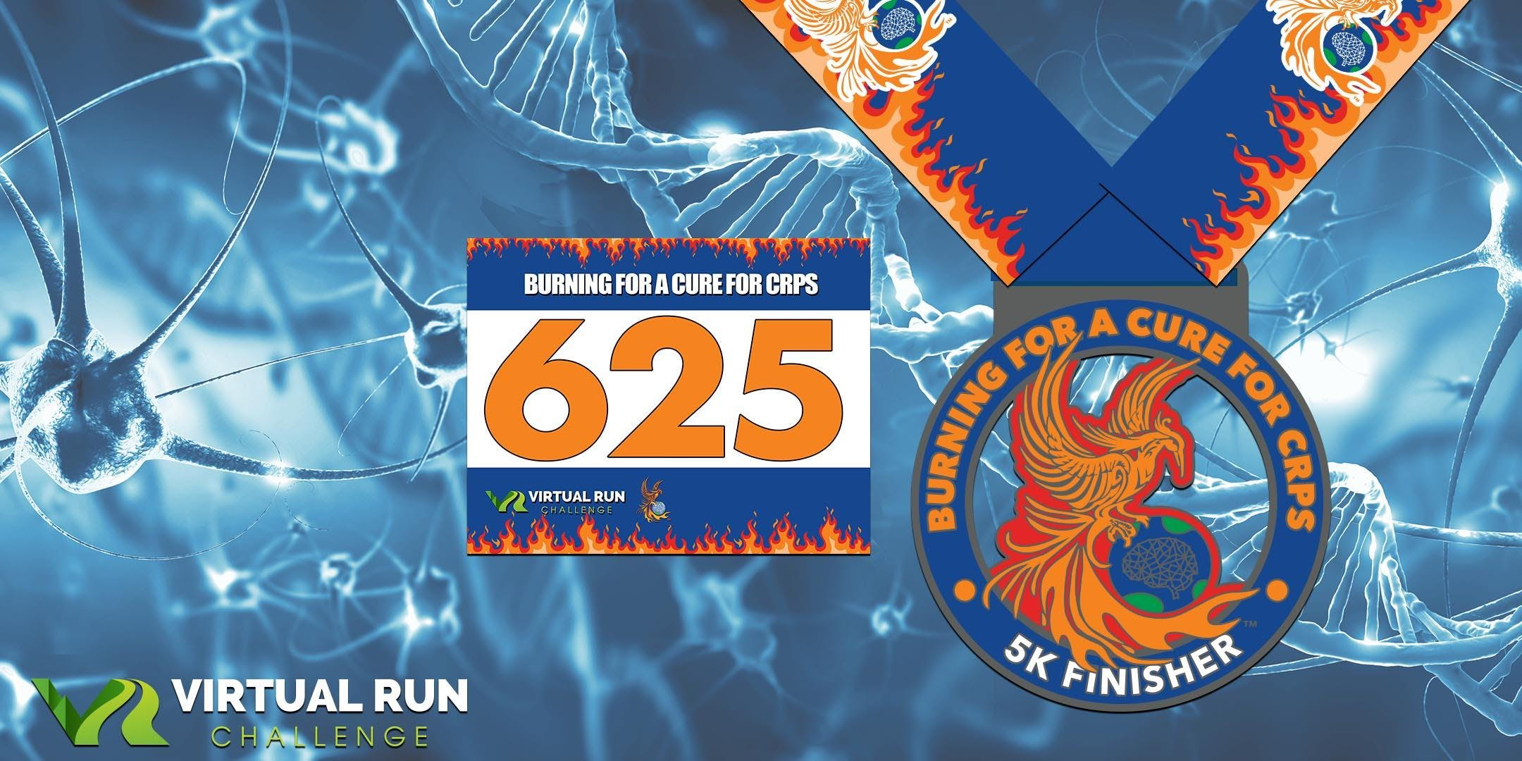 2019  Burning for a Cure for CRPS Virtual 5K Run Walk - Alexandria