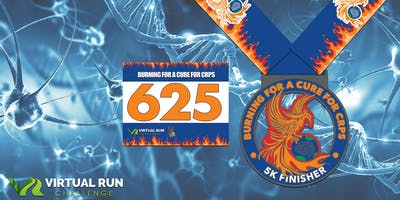 2019  Burning for a Cure for CRPS Virtual 5K Run Walk - Fresno