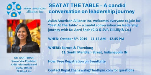 SEAT AT THE TABLE - DR. AARTI SHAH