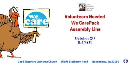 Volunteers Needed to help pack kits tickets