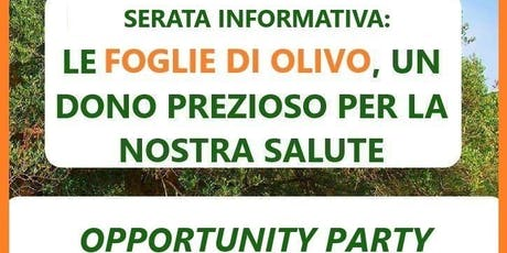 OPPORTUNITY PARTY biglietti