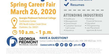 2020 GPTC Spring Career Fair (Vendor Registration) tickets