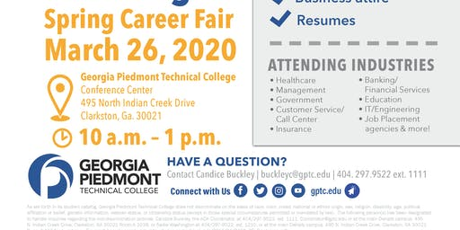 2020 GPTC Spring Career Fair (Vendor Registration)
