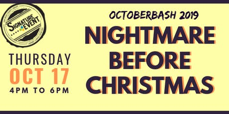 Octoberbash 2019: Nightmare Before Christmas tickets