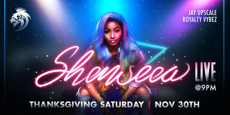 SHENSEEA LIVE IN BROOKLYN - THANKSGIVING SATURDAY tickets