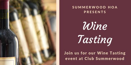 Summerwood Wine Tasting tickets
