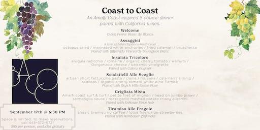Coast to Coast Wine Pairing Dinner