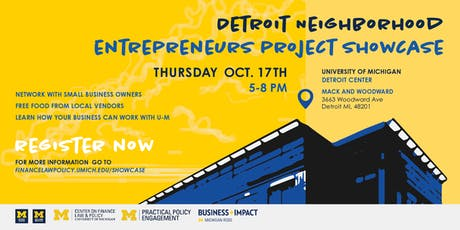 Detroit Neighborhood Entrepreneurs Project Showcase tickets
