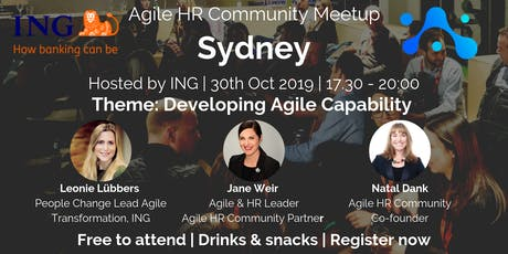 Agile HR Meetup Sydney | ING | Developing Agile Capability tickets