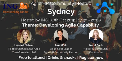 Agile HR Meetup Sydney | ING | Developing Agile Capability
