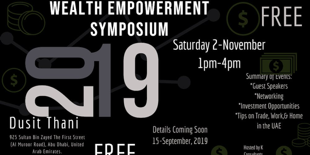 Wealth Empowerment Symposium Tickets, Sat, Nov 2, 2019 at 1