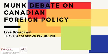 Live Broadcast: Munk Debate on Canadian Foreign Policy tickets