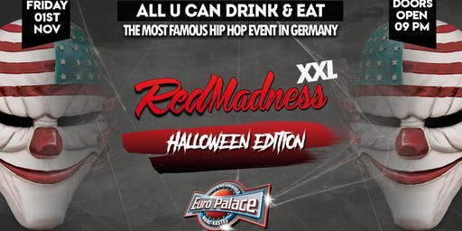Red Madness Halloween Edition Friday 1st November