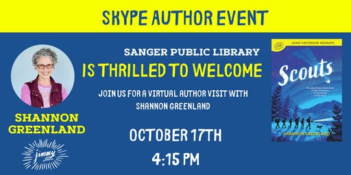 Skype Author Event with Shannon Greenland Author of Scouts