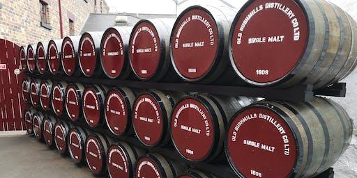 Bushmills whiskey tasting