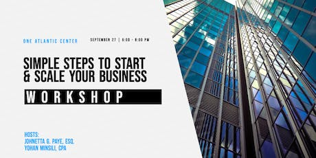 Simple Steps to Start & Scale Your Business Workshop tickets