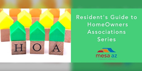 Resident's Guide to Homeowners Associations (HOA's) tickets