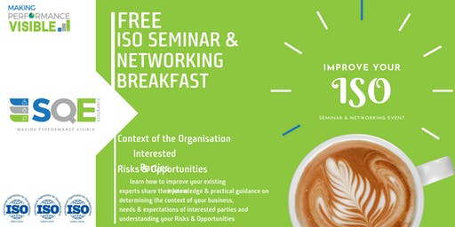 FREE ISO Management System Seminar & Networking Event