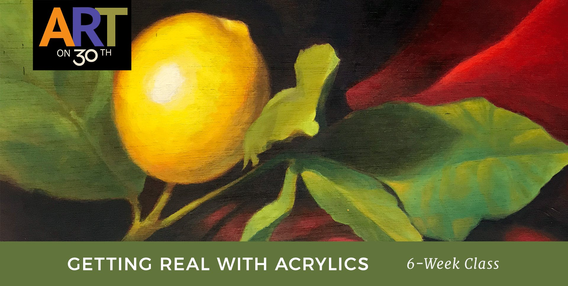 WED - Getting Real with Acrylics with instructor Chuck McPherson