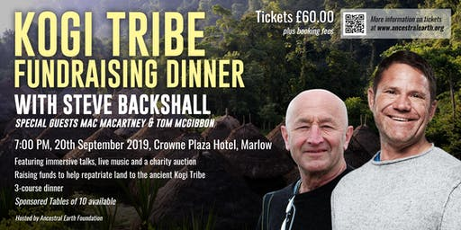 Kogi Fundraising Dinner - Hosted by Steve Backshall with special guest Mac Macartney