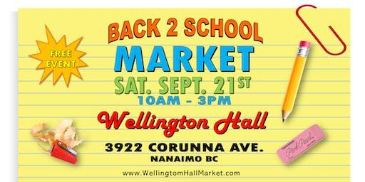 Back 2 School Market at Wellington Hall