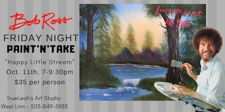 Bob Ross Paint'N'Take Night - Happy Little Stream tickets