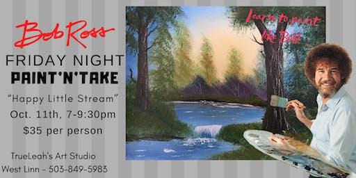 Bob Ross Paint'N'Take Night - Happy Little Stream