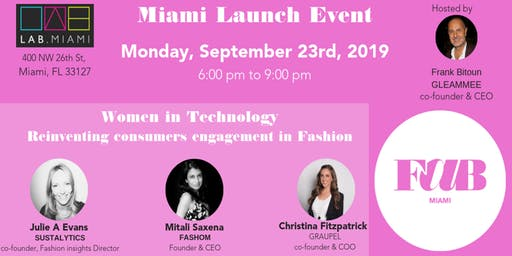 FASHION AND BEAUTYTECH MIAMI LAUNCH EVENT