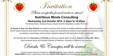 Nutritious Minds Consulting Launch tickets