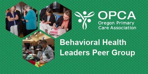 FQHC Behavior Health Leaders Peer Group Meeting