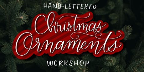 DIY Handlettered Ornaments Workshop tickets