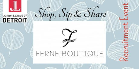 Shop, Sip & Share tickets