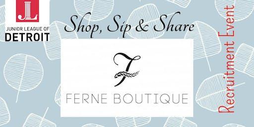 Shop, Sip & Share