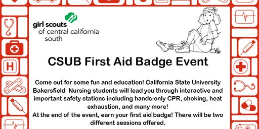 CSUB First Aid Badge Event