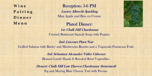RTS Wine Pairing Dinner featuring Foley Family Wines