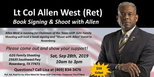 Lt Col Allen West (Ret)Book Signing & Shoot with Allen