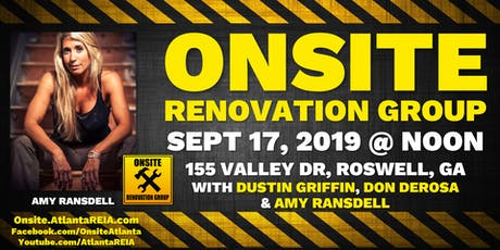 Onsite Renovation Group at Amy Ransdell's Latest Rehab Project in Roswell, GA tickets