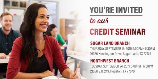 Credit Seminar-Sugar Land