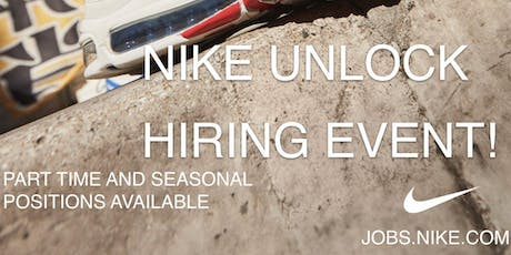 NIKE UNLOCK HIRING EVENT tickets